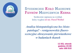 "Seminarium ""Analiza histopatologiczna bez histopatologa ?"""