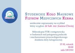 Seminarium o patogenezie padaczki i zastosowaniu diety ketogenicznej.