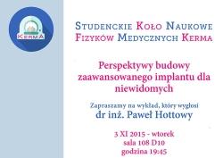 """Seminarium: """"Perspektywy budowy zaawansowanego implantu dla niewidomych"""""""